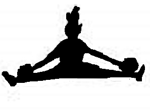 cheer toe touch clip art � cliparts