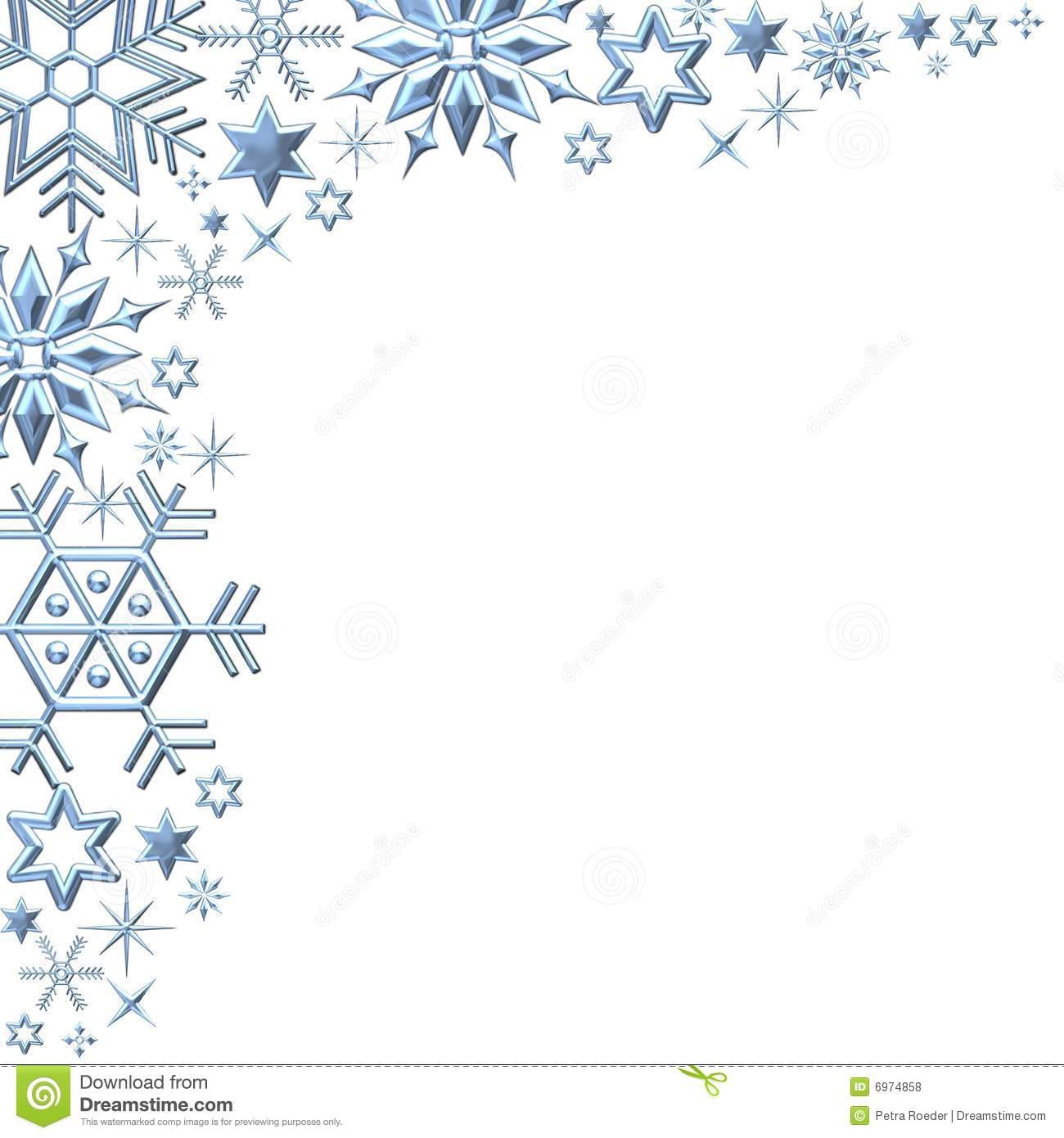 Christmas Snowflakes Borders Clipart - Clipart Kid