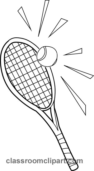 Sports   Tennis Racquets 01 Outline   Classroom Clipart