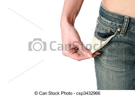 Stock Illustration Of Empty Pockets Financial Problems   Empty Pockets