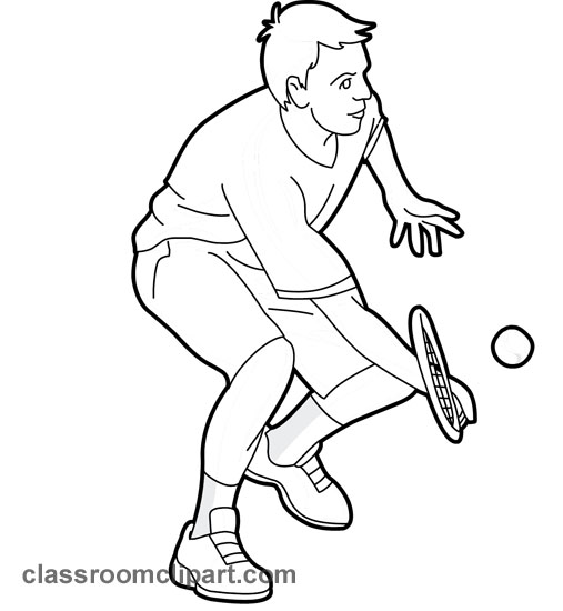 Tennis Clipart Black And White Classroom Clipart