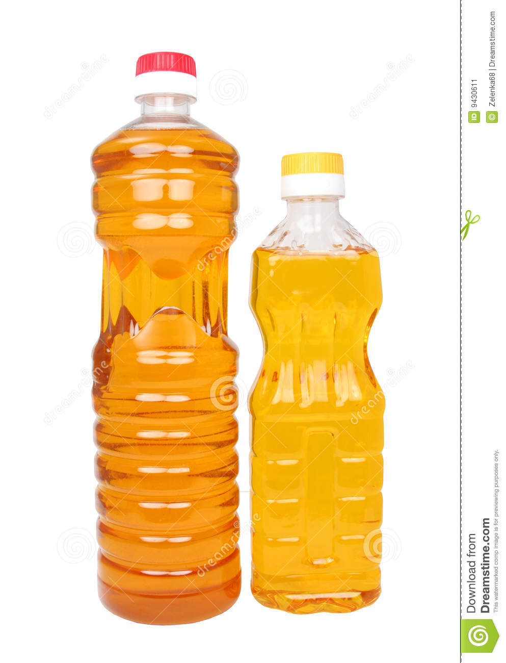 Two Bottles With Vegetable Oil Stock Image   Image  9430611
