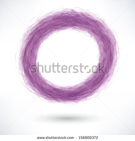 Violet Brush Stroke In The Form Of A Circle With Gray Shadow  Abstract