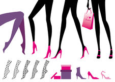 Woman S Foot Pointed Toe Stock Vectors Illustrations   Clipart