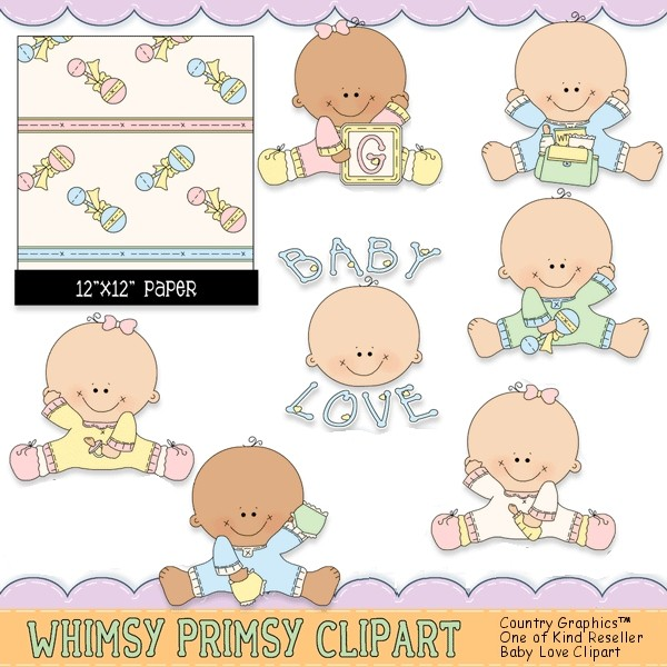 Baby Clipart Collection Whimsy Primsy Clipart