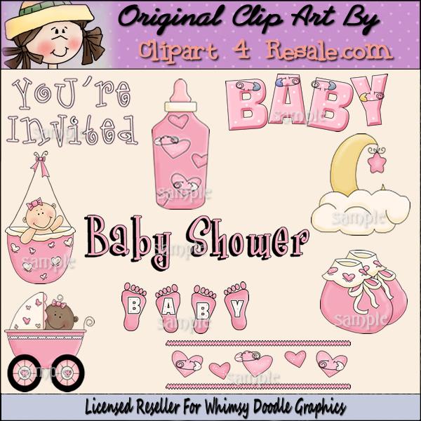 Baby Shower   Girl Clipart