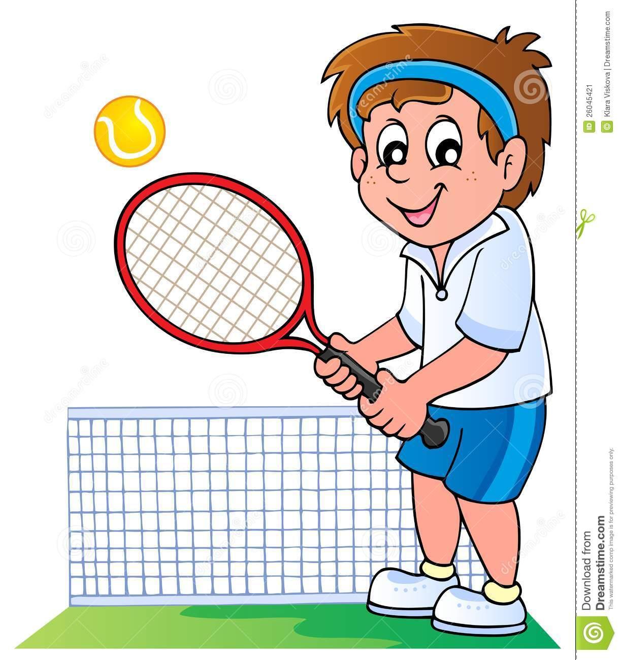 Tennis Cartoon Clipart - Clipart Kid