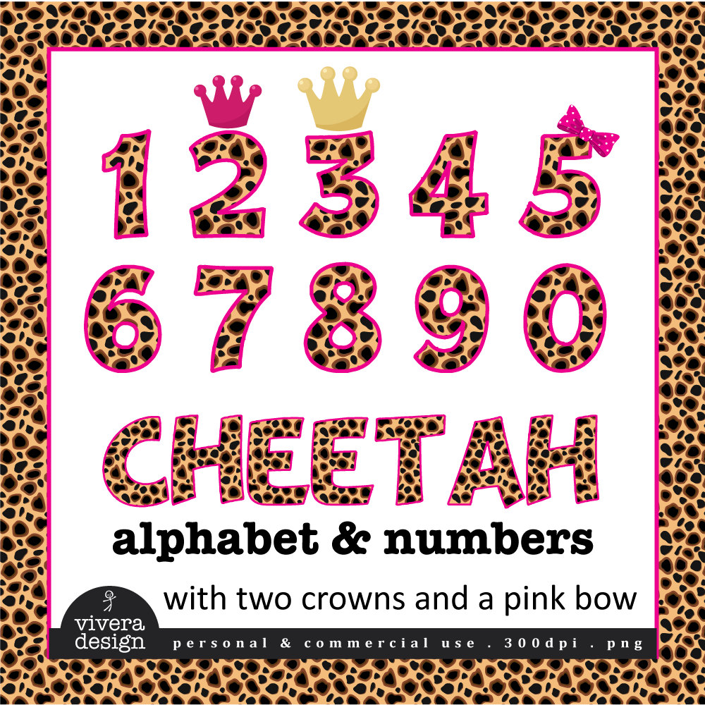 Cheetah Print Clipart Cheetah Patterned Letters And