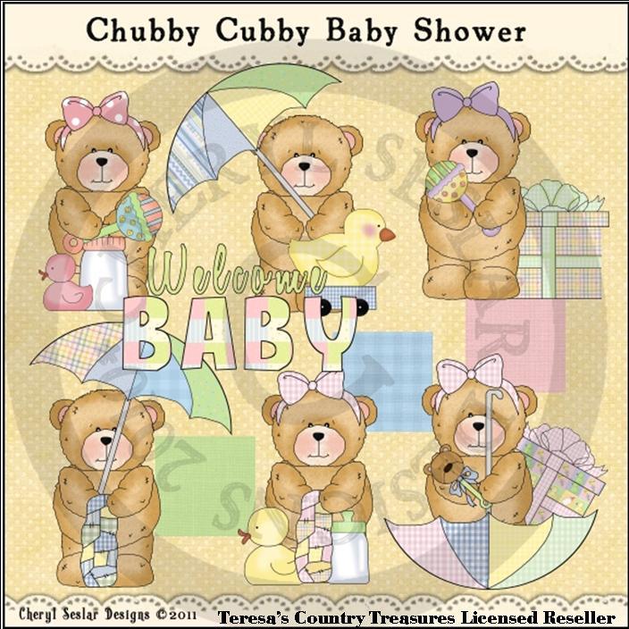 Clipart Cheryl Seslar Designs    Animals Clipart    Chubby Cubby Baby