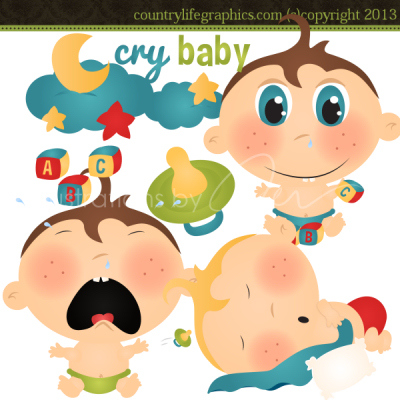 Cry Baby Clipart   Country Life Graphics