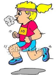 Girl Running Race Clipart - Clipart Kid