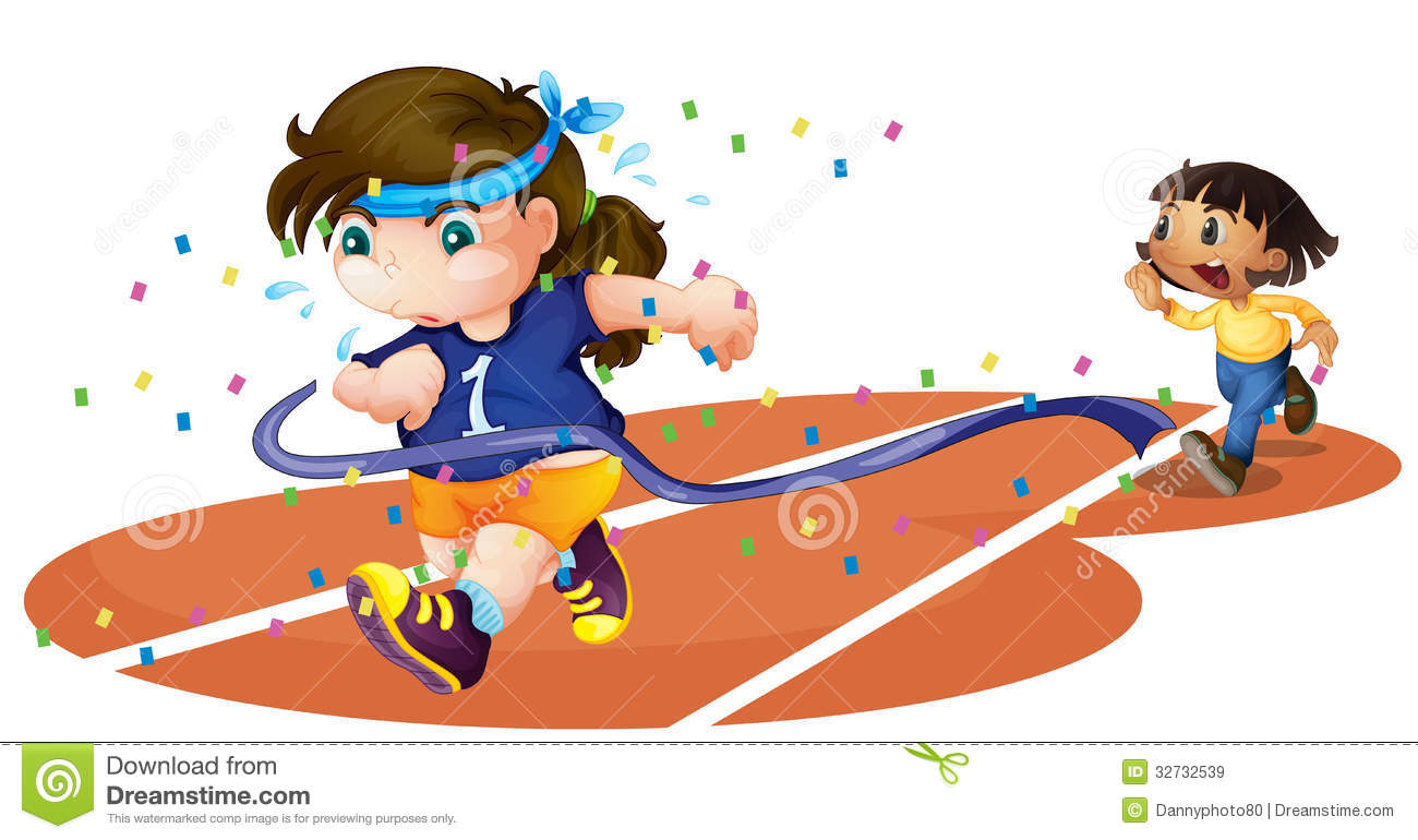 Girl Running Race Clipart - Clipart Kid