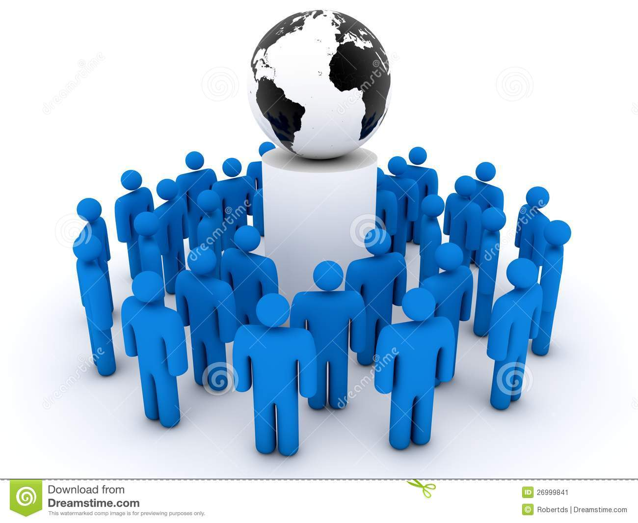 Group Of People Gathering Around Planet Earth Stock Image   Image