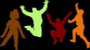 Kids Jumping  Fall  Clip Art At Clker Com   Vector Clip Art Online