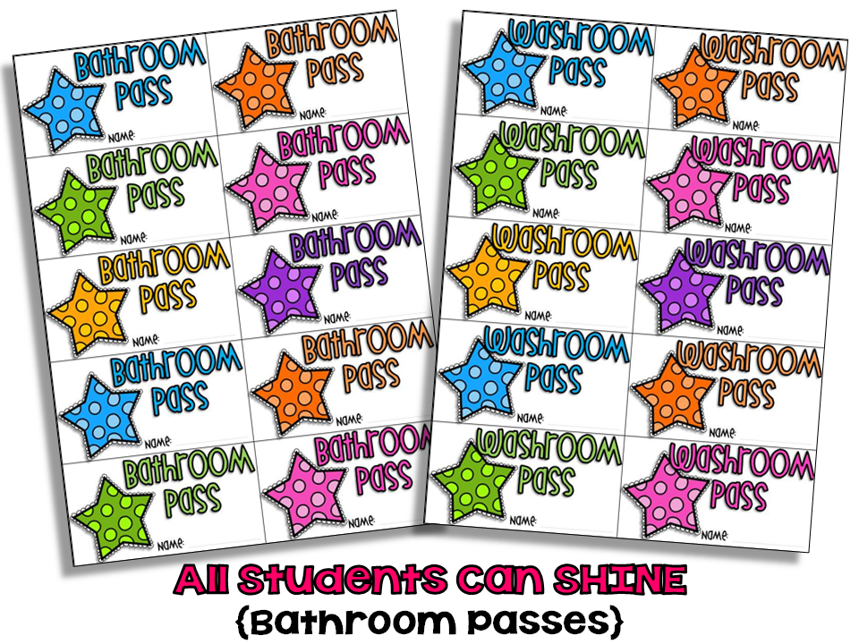 Made Both Bathroom And Washroom Passes After My Students Pointed. Elementary School Restroom Clipart   Clipart Kid