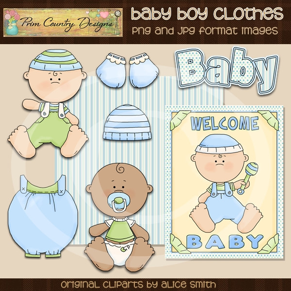 Pcd611 Baby Boy Clothes Clip Art
