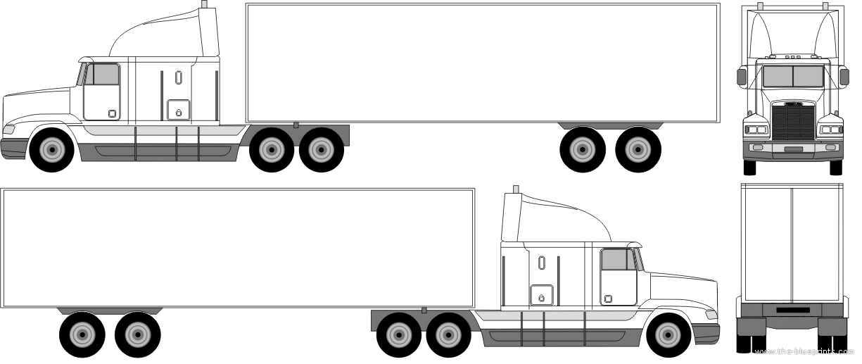 Pin Semi Truck Trailer Drawings On Pinterest