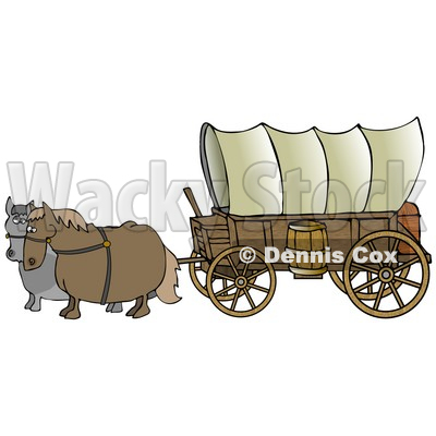 Pioneer Covered Wagon With Horses Similar Covered Wagon Clip