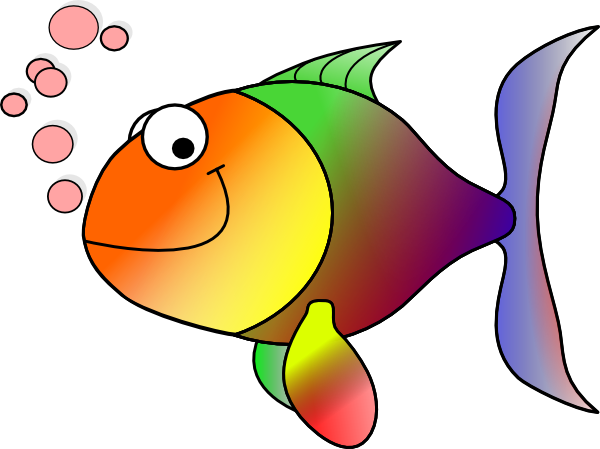 Rainbow Fish Clipart Black And   Clipart Panda   Free Clipart Images