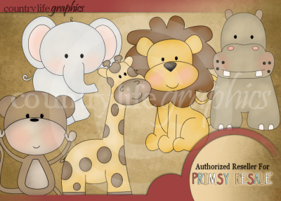 Spring Clipart At Country Life Graphics   Baby Jungle Animals By Lisa