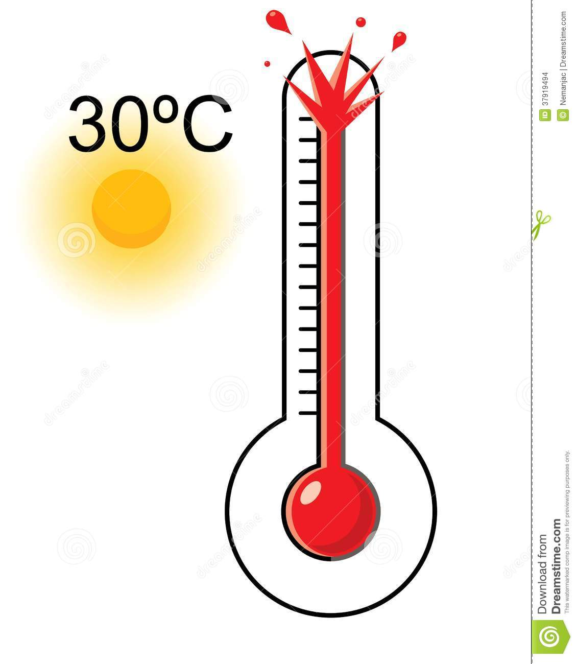 Weather Thermometer Hot   Clipart Panda   Free Clipart Images