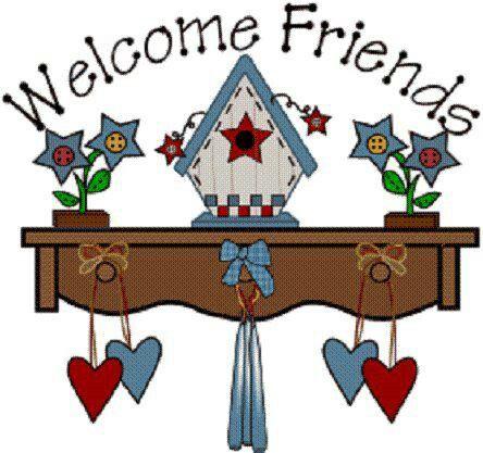Welcome Friends Country Art Folk Art Sweeet Art Clipart Clip Art