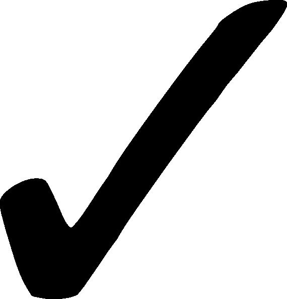 Black Check Mark Clip Art At Clker Com   Vector Clip Art Online