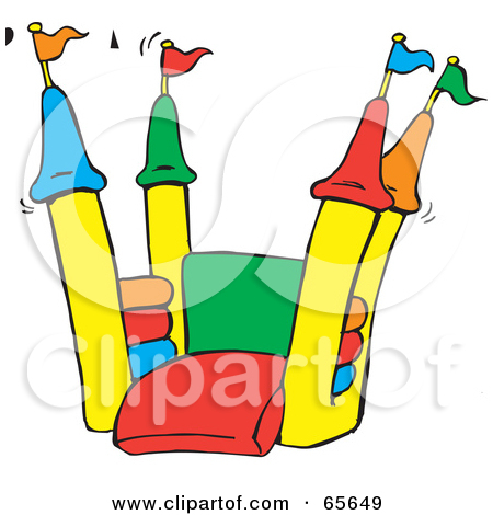 Bounce Clipart 65649 Open Colorful Bounce Castle Jpg