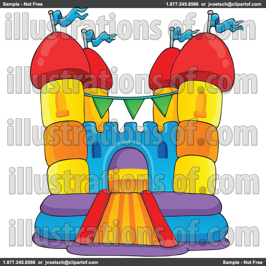 Bounce Clipart Royalty Free Rf Bounce House Clipart Illustration By