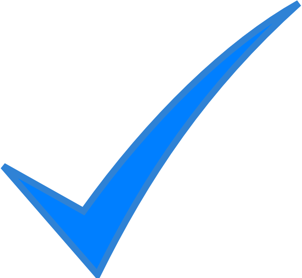 Check Mark Blue Clip Art At Clker Com   Vector Clip Art Online
