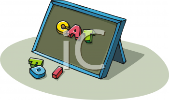 Clip Art Picture Of A Board With Magnetic Letters On It