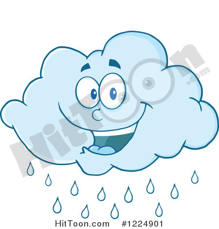 Cloud Clipart  1224901  Happy Rain Cloud Mascot By Hit Toon