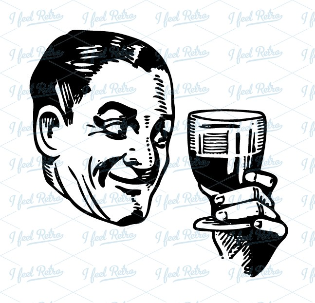clip art man drinking wine clipart clipart suggest
