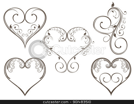 Elegant Heart Clipart - Clipart Kid