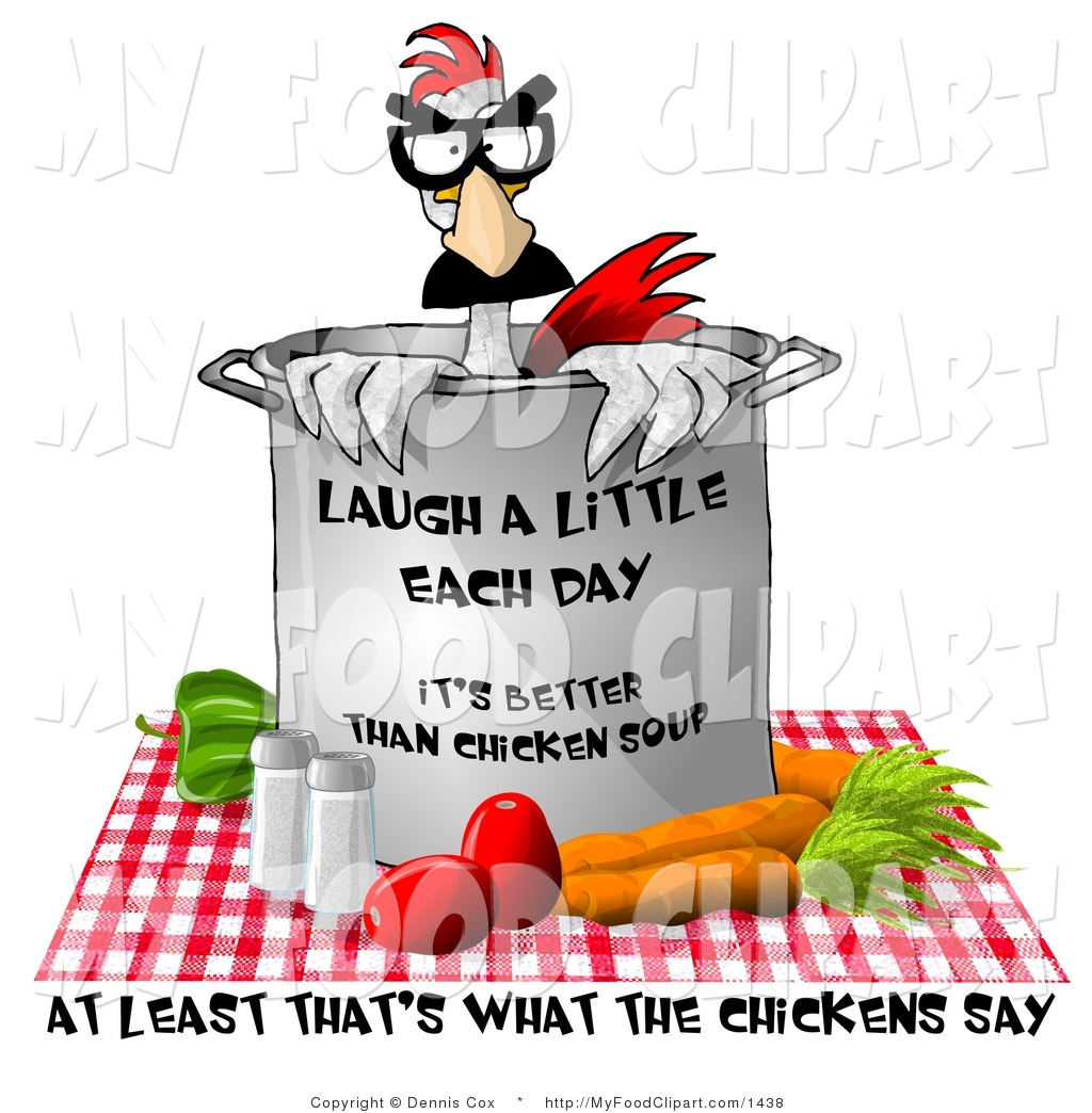 Food Clip Art Of Fresh Vegetable Chicken Soup The Chicken Sitting In