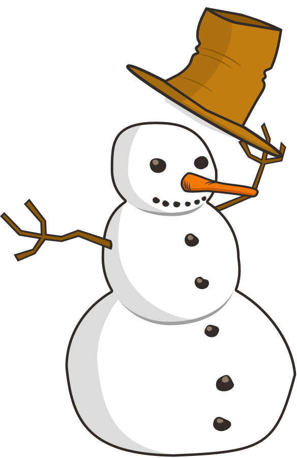Funny Snowman With Hat Clipart - Clipart Kid