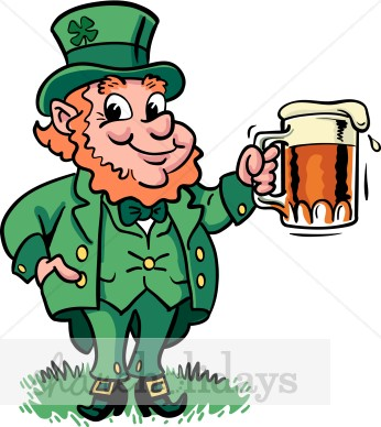 Leprechaun Beer Clipart   St Patrick S Day Clipart