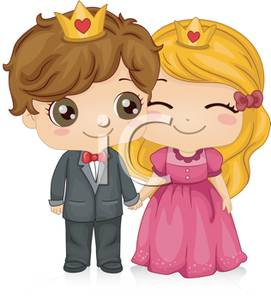 Prom King And Queen Clipart A Boy And Girl Crowned King