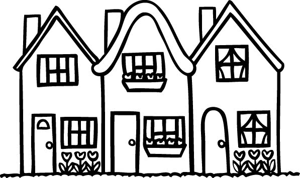 Row Of Houses Clipart   Clipart Best