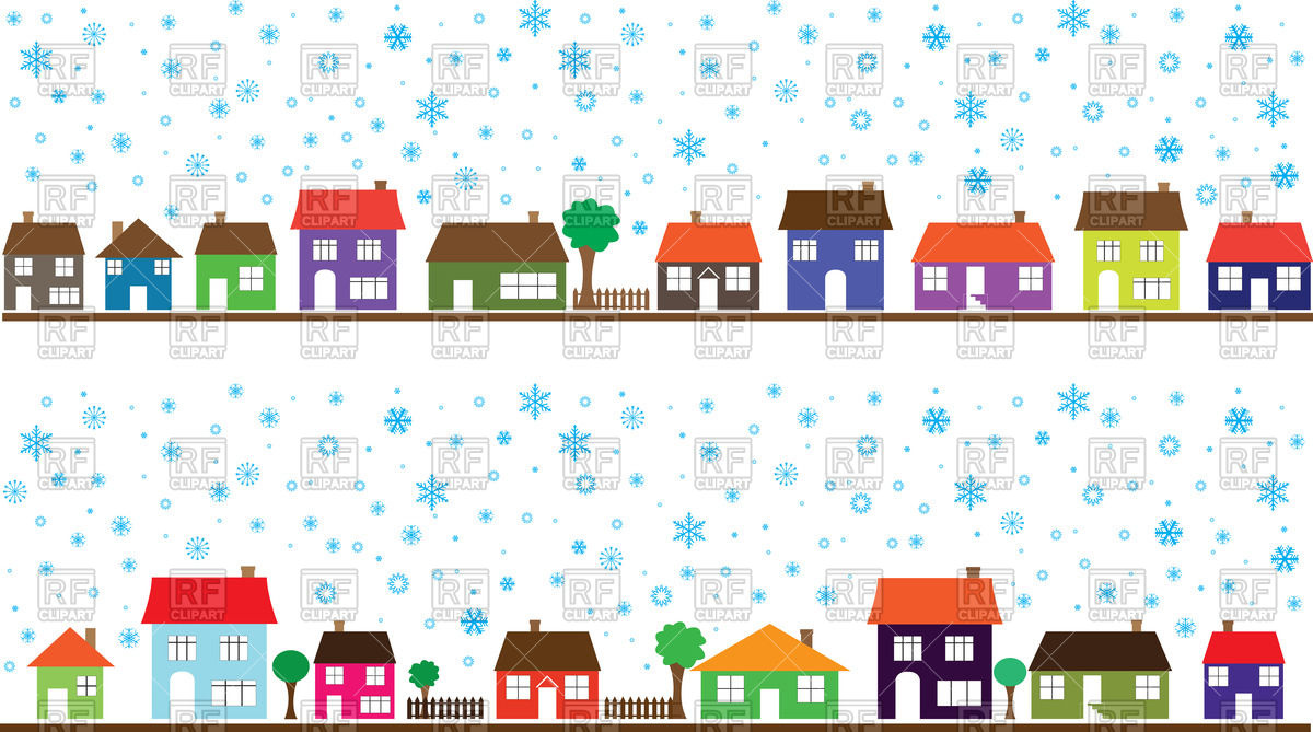 Row Of Houses Clipart - Clipart Kid