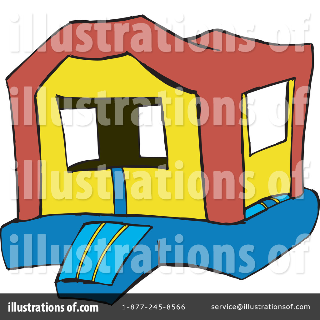 Royalty Free  Rf  Bounce House Clipart Illustration By Dennis Holmes