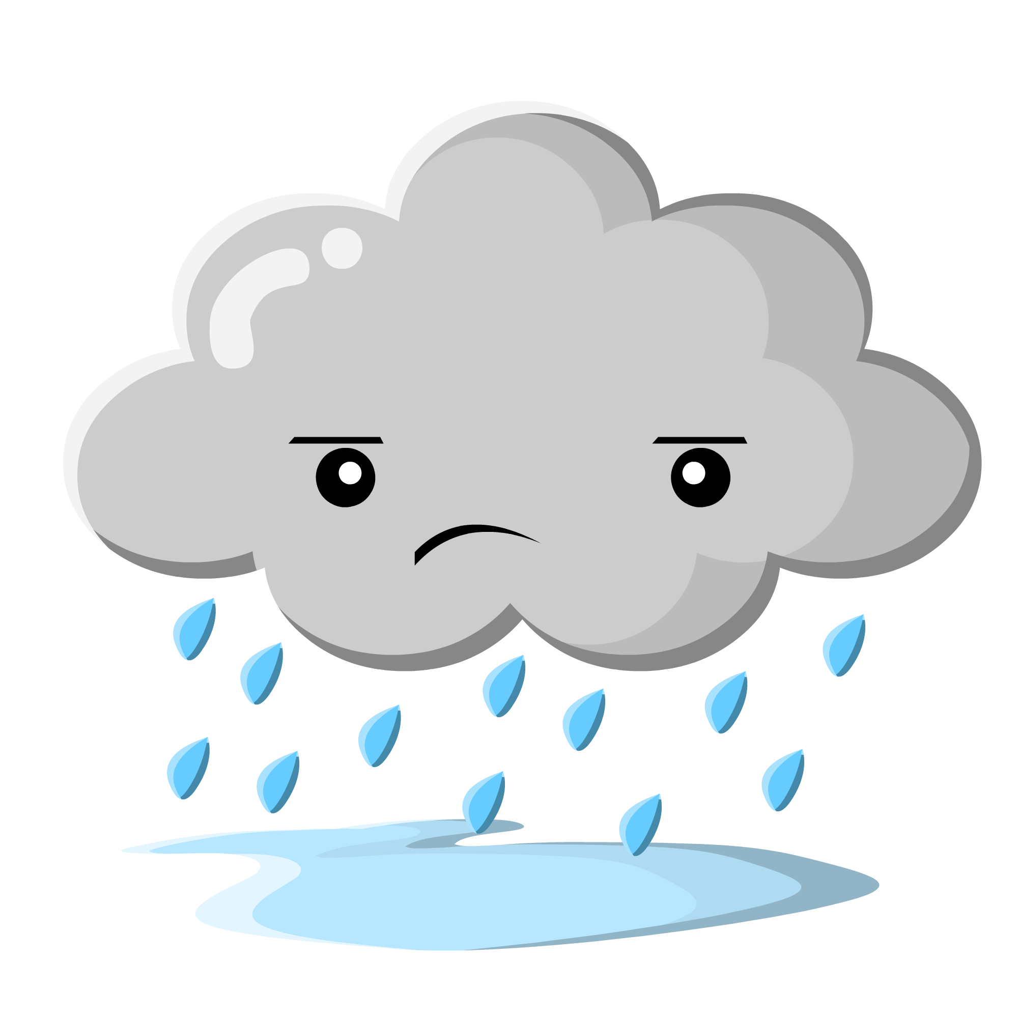 Sad Rain Cloud Clip Art   Free Vector Download