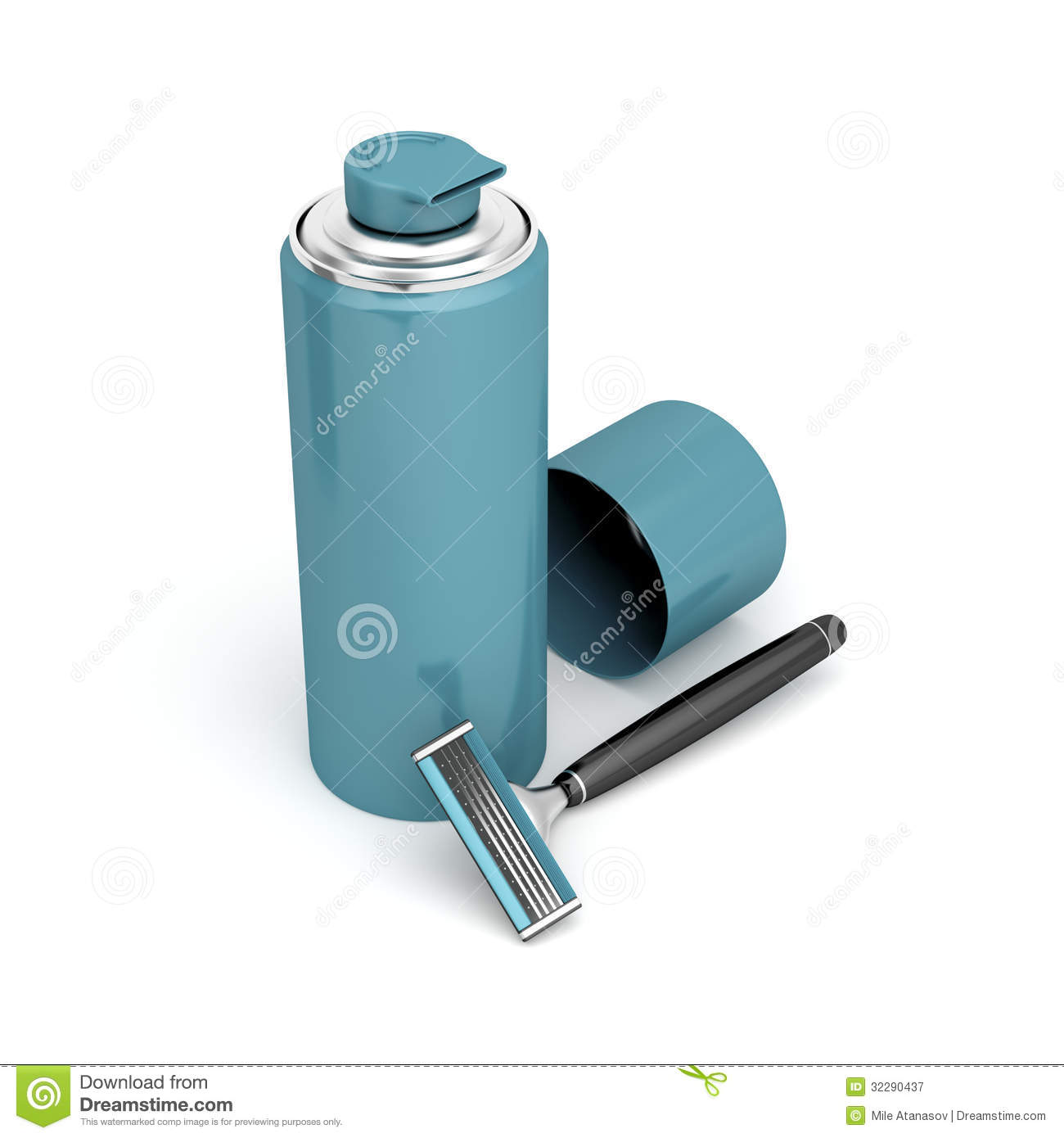 Safety Razor And Shaving Foam Royalty Free Stock Photography   Image