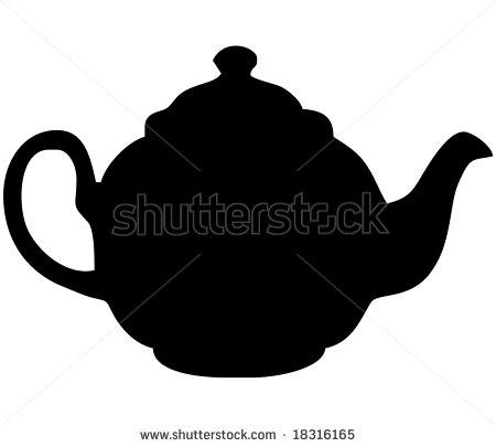 teapot silhouette clipart clipart suggest
