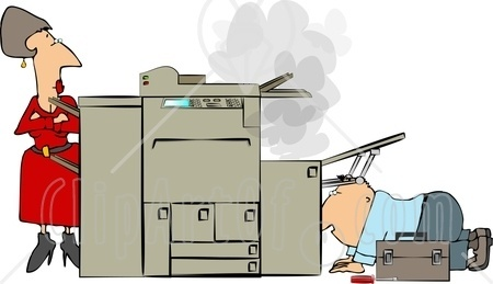 The Xerox Machine Printed