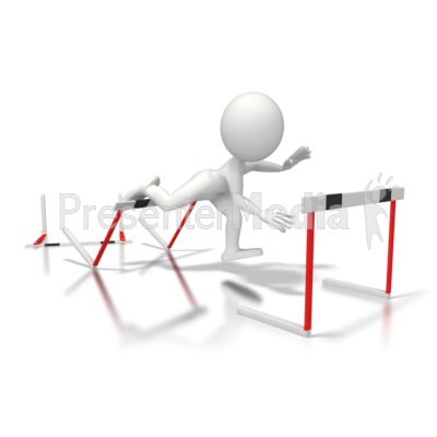 Trip Hurdles   Sports And Recreation   Great Clipart For Presentations