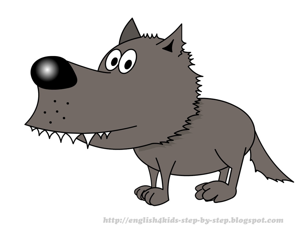 Clip Art Clipart Wolf wolf clipart kid cartoon jpg