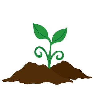 Clip Art Soil Clipart soil clipart kid image clip art illustration of a seedling growing in soil