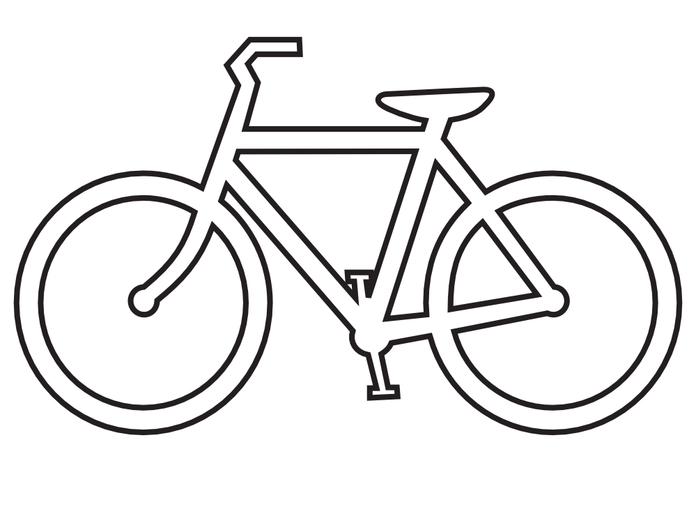 Clipartist Net   Clip Art   Bicycle Route Sign Black White Line Art