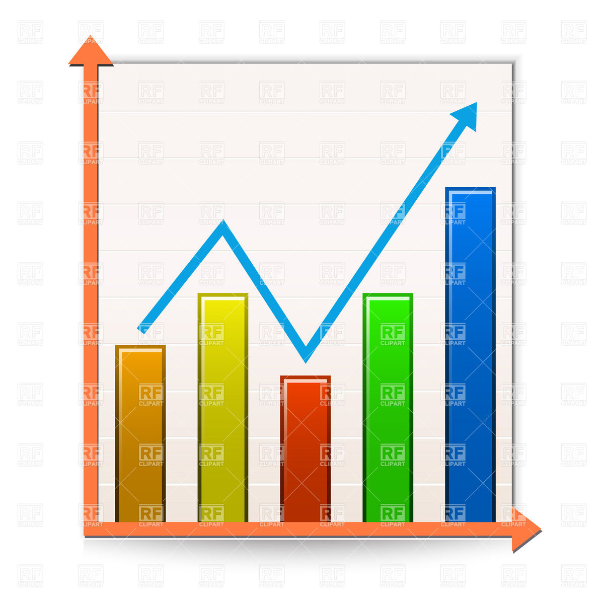 Data Graph Clipart
